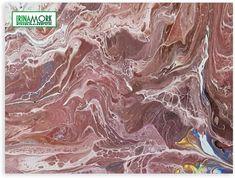 brun abstraksjon | FINN.no 70x50 cm abstraksjon, tynn lerret.    #fluidart #acryl #abstraksjon #maleriet #molde #moldemaleri #bilde #флюидарт #заливкаакрилом #celle #соты