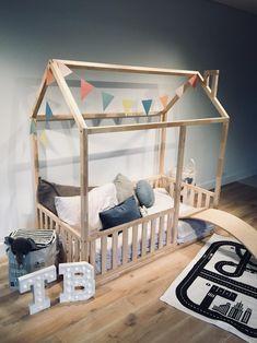 Twin Size Toddler Bed, Toddler Floor Bed, Toddler House Bed, Diy Toddler Bed, Baby Floor Bed, House Beds For Kids, Toddler Bed Frame, House Frame Bed, Floor Bed Frame