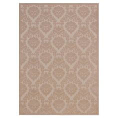 Keep high-traffic areas like your mudroom or kitchen looking elegant with this woven rug. Its damask motif offers an elegant touch, while the neutral hue mak...