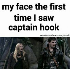 This made me laugh! He was not what I was expecting for Captain Hook, but I much prefer him than an old man with a perm and creepy mustache.