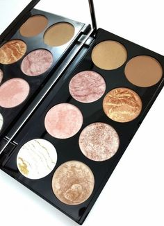 pinterest: @lilyosm | eyeshadow palette gold pink neutral shimmer glitter matte shades makeup eyes