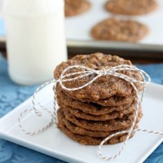 Soft baked gingersnap cookies with the addition of old fashioned oats makes a chewy, delectable cookie!