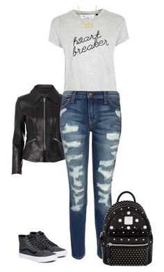 """""""Heart breaker"""" by potterhead640 on Polyvore featuring Alexander Wang, Tee and Cake, Current/Elliott, MCM, Jennifer Meyer Jewelry and Vans"""