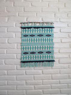 Blue Geometric Weaving