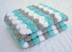 Bright Color Baby Crochet Blanket Pattern | 101 #Crochet