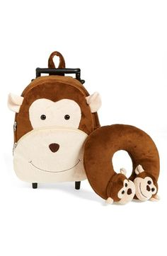 Free shipping and returns on Popatu 'Monkey' Rolling Backpack (Kids) at Nordstrom.com. A huge, smiley monkey face beams out from a plush wear-or-wheel bag, perfect for small travelers.