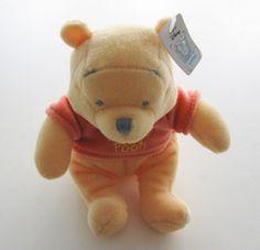 Doudou peluche ours  velours jaune Winnie Disney Nicotoy neuf