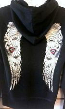 MARILYN MONROE TATTOO ANGEL WINGS WOMEN'S HOODIE FOR HARLEY DAVIDSON WOMEN.  Very cool Marilyn Monroe design.