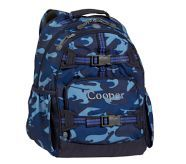 Large Mackenzie, Blue Camo - think it would make a great diaper backpack for my twin boys!  #potterybarnkids
