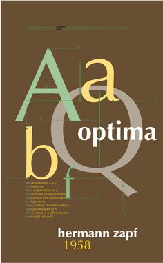 optima type face poster