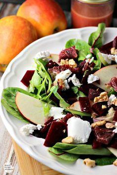 Blood Orange, Beet and Apple Salad with Citrus Vinaigrette