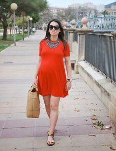 Orange Dress StreetStyle