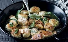 Spinach and ricotta gnocchi with sage and nut butter