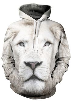 ba93d9d7f5f Our Beloved White Lion Hoodie is made of 100 percent polyester. It features  a 360 complete visual that is fade resistant and high definition.
