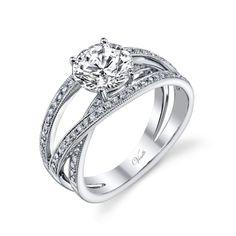 Venetti 14k White Gold Multi-Band Engagement Ring