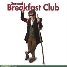 Somewhere between 1st breakfast and elevensies