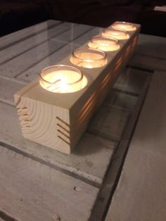 Easy DIY candle holders made in one afternoon.- Ganz easy an einem Nachmittag gebastelt DIY Kerzenständer. Total schick vor all… – Holz Easy DIY candle holders made in one afternoon. Totally chic above all … – wood – - Diy Candles Video, Diy Candles Easy, Diy Simple, Easy Diy, Wooden Candle Holders, Small Wood Projects, Tea Candles, Tea Light Holder, Wood Crafts