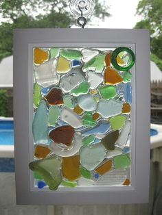 Sea Glass Mosaic by bmcseaglasscreations on Etsy
