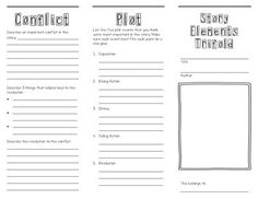story elements trifold