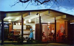 All sizes | Eichler Homes birthday party postcard Sunnyvale CA