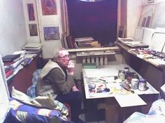 2004 Игорь Вулох в своей московской мастерской