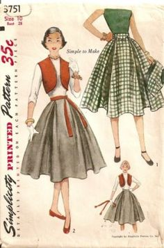 Simplicity bolero skirt easy sewing pattern 3751 S10 B28 $7.99 or offer