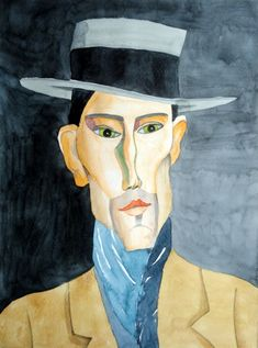 Modigliani : portrait of a man with hat