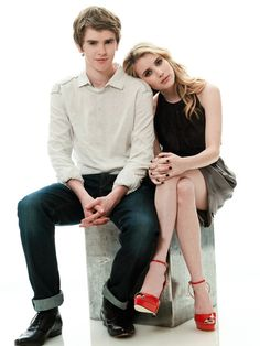 Freddie Highmore and Emma Roberts