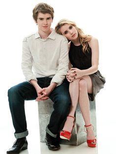 Freddie Highmore and Emma Roberts