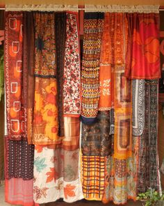 ROOMS ON FIRE  Handmade Gypsy Curtains by BabylonSisters on Etsy, $245.00