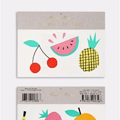 Meri Meri Fruit Tattoos: It's a tropical medley! One your five (six!) a day.
