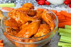 An easy, foolproof Buffalo Wing Sauce, plus the all-time best crispy, baked chicken wings recipe along with a bonus blue cheese dip option! Homemade Buffalo Sauce, Homemade Chili, Baked Buffalo Wings, Chicken Wing Recipes, Recipe Chicken, Chicken Wings, Thai Chicken, Chicken Tenders, Clean Eating Desserts