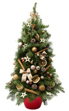 Aranjament Hand Made din crengi de brad decorat pentru Craciun / Hand Made Natural Christmas Tree