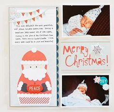Merry Christmas Layout from Dear Santa Photo Freedom Collection. #echoparkpaper