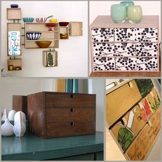 Great idea for turning the IKEA Moppe storage box into a wall unit!
