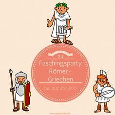 Römer versus Griechen als Thema dieser Mottoparty zum Karneval oder Fasching.