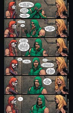 Harley Quinn has an adventure, aka best team-up EVER! - Imgur  Green Arrow's faces in this lol