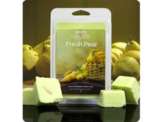 Kendra Tacker's Store - Montana   Fresh Pear Scented Wax Tarts & Wax melts with surprise Jewelry inside Imagine taking a bite into a juicy, sweet pear on a summers day! The wonderful, sweet smell of ripened pears with cooling base notes of fresh greenery will fill any room. Hand-picked from the branch just for you. Natural Soy Fresh Pear scented candles and tarts.