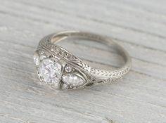 .80 Carat Vintage Edwardian Engagement Ring