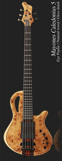 frettedchordophones: Mayones-Caledonius-5-S-Cut-Eye-Poplar =Lardys Chordophone of the day - a year ago --- https://www.pinterest.com/lardyfatboy/