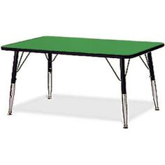 """American Desk 5060 36"""" X 72"""" RECTANGULAR, TABLE by American Desk. $142.95. American Desk's 5060 Activity Tables are designed to suit the needs of group learning. These classroom activity tables with sturdy laminated top surface withstand the daily rugged usage. This model is a 36"""" x 72"""" Rectangular table with adjustable legs that make these tables absolutely versatile. The higher height range is for adult usage while the shorter range is for juveniles."""