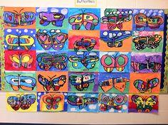 Art butterflies for grade 1 & 2