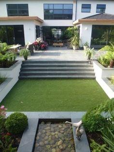 Back Garden Design, Garden Design Plans, Small Backyard Design, Backyard Garden Design, Patio Steps, Garden Steps, Garden Paths, Contemporary Garden Design, Landscape Design