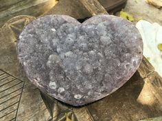 Amystest Heart Cluster Geode by SacredStoneGallery21 on Etsy
