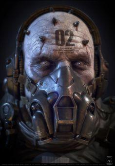Parasite Soldier Next Gen Version based on MGSV , Csaba Molnar on ArtStation at https://www.artstation.com/artwork/YR8Nd