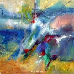 An abstract in acrylics by Ad Adriaans of the Hangar Abstract Artists - Abstract Vibrations IV