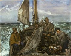 Toilers of the Sea - Édouard Manet. Oil on canvas. Houston Museum of Fine Arts, Houston TX, USA. Georges Seurat, Artist Canvas, Canvas Art, Canvas Prints, Théo Van Rysselberghe, Edouard Manet Paintings, French Impressionist Painters, Painting Prints, Art Prints