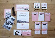Wedding invitation Ruban Collectif by Camila Gimeno www.rubancollectif.fr