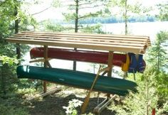 Love this idea - Maybe include a padlock or two :)   Multi Kayak Storage Racks Plans Multi Kayak Storage Racks Plans ...