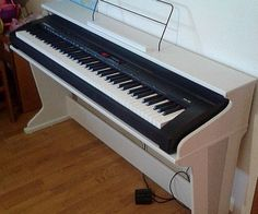 """Here is how I made a stand for our new stage piano. The model is Kurzweil-KA90.We decided not to buy a ready made stand, but to make our own instead. The stand is supposed to be a part of our daughter's room furniture, so it had to have a """"pianish"""" look. It had to be cheap, easy to make, and classy."""